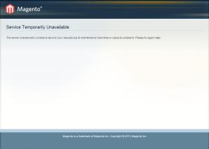 Errore Magento Service Temporarily Unavailable
