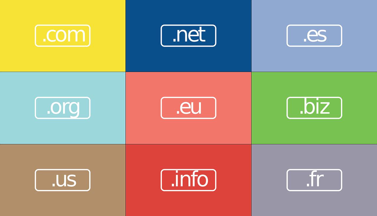 Registrazione dominio: immagine TLD